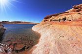 бирюзовые воды залива — Стоковое фото