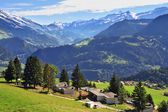 Gorgeous weather in the town of Leysin — Stock Photo