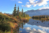 Sunny morning in Jasper National Park, Canada — Stock Photo