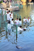 The ritual baptism of Christian pilgrims  — Stock Photo