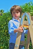 The beautiful green-eyed boy — Stock Photo