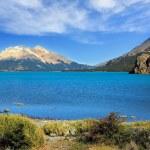 The huge blue lake — Stock Photo
