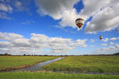 The balloon flies over the plains  — Stock Photo