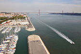 Embankment of the River Tagus and the marina — Stock Photo