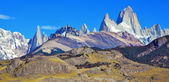 The rock Fitz Roy peaks in the Andes.  — Stock Photo
