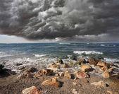 Zware wolk over de branding — Stockfoto