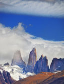 Three of the rocks Torres del Paine — Stock Photo
