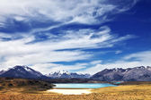 The lake in a valley  — Stock Photo
