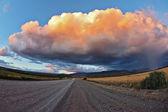 Huge pink - orange cloud — Stock Photo