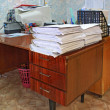 Heap of the papers on table in office — Stock Photo #13567840