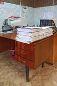 Heap of the papers on table in office — Stock Photo