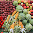 Set fruit on rural market — Photo