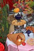 Tea still life on rural market — Stock Photo