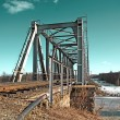 railway bridge — Stock Photo