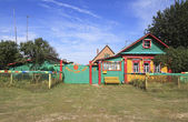 Babaji Ashram in Russian Siberian village Okunevo. — Stock Photo