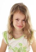 Upset little girl crying. — Stock Photo