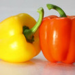 Water splashed on capsicum annuum. — Stock Video #20060281