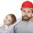 Family Builders. Young assistant. — Stock Photo #21392713