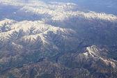 Las montañas del cáucaso (vista desde el avión). — Foto de Stock