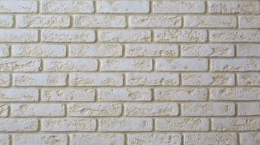 Panorama decorative tiles (brick wall). — Stock video