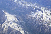 Caucasus mountains (view from plane). — Stock Photo