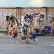 Stock Video: Indians sing and dance in center of Moscow. Russia.