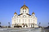 Собор Христа Спасителя в Москве. — Стоковое фото