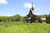 Chapel of St. Sergius of Radonezh at the waterfall Gremyachiy ke — Stock Photo