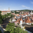 Historic city center of Krumlov. — Stock Photo