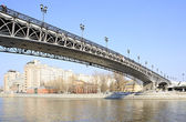 Patriarchal bridge over the Moscow river. — Stock Photo