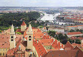 Royal Palace of Prague Castle (view from tower of Saint Vitus Ca — Stock Photo