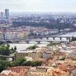 Vltava River and Bridges in Prague (View from the tower of Saint — 图库照片