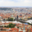 Vltava River and the Charles Bridge in Prague (View from the tow — Stock Photo #30921613