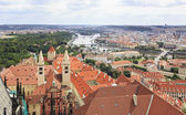 Historical center of Prague (View from the tower of Saint Vitus — Stock Photo