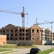 Construction of the townhouse in Omsk. — Stock Photo