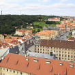 Historical center of Prague (View from the tower of Saint Vitus — ストック写真