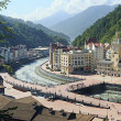 Rosa Khutor Alpine Resort in Krasnaya Polyana. — Foto de Stock