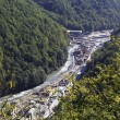 Construction of infrastructure in the Krasnaya Polyana. Caucasus — Stock fotografie