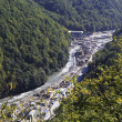 Construction of infrastructure in the Krasnaya Polyana. Caucasus — ストック写真