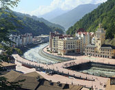 Rosa Khutor Alpine Resort in Krasnaya Polyana. — Stock Photo