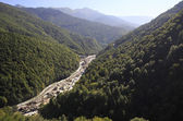 Construction of infrastructure in the Krasnaya Polyana. Caucasus — Stock Photo