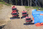 Plow snow removal equipment in the mountains of Krasnaya Polyana — Stock Photo