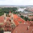 Panorama of historical center of Prague (View from the tower of Saint Vitus Cathedral). — Stock Video #34032245