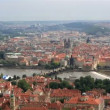 Charles Bridge (View from the Petrin Lookout Tower) — Stock Video