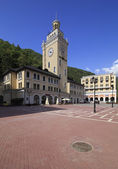 City Hall in the Rosa Khutor Alpine Resort. Krasnaya Polyana. — Stock Photo