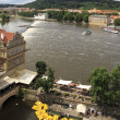Vltava River in Prague's historical center. — Stock Photo