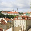 Basilica of the Assumption of Our Lady and Prague Castle. — Stock Photo