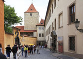 Toy Museum and the Black Tower at Prague Castle. — Stock Photo