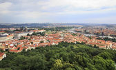 Historical center of Prague. View from Petrin Lookout Tower. — Stock Photo