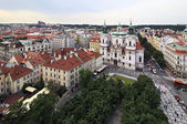 Historical center of Prague. View from the Old Town Hall. — Stock Photo